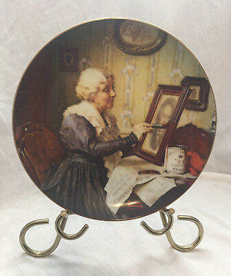 Norman Rockwell collector plate Grandma's Love Edwin M Knowles 1988 EUC