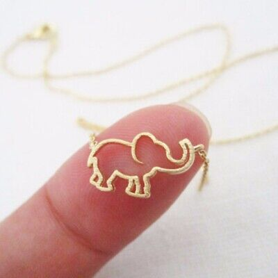 Trendy Women Jewelry Chain Choker Hollow Elephant Pendant Necklace Jewelry