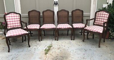 Vintage Henredon French Provincial Dining Chairs - SET of 6 SIX CLEAN!