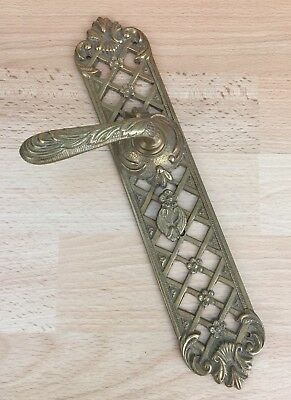 Stunning Vintage Ornate Antique Style Solid Brass Lever Door Handle (SINGLE)