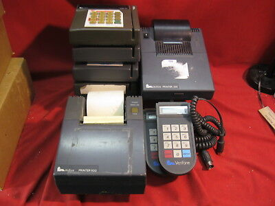 Verifone POS 5 Credit Terminals Tranz 380 Two Pinpad 1000 Three Printers 250 900