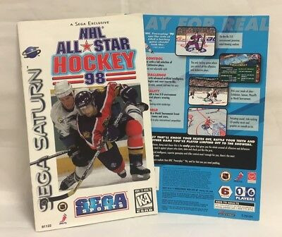 NHL All Star Hockey 98 Sega Saturn MANUAL AND INSERT ONLY