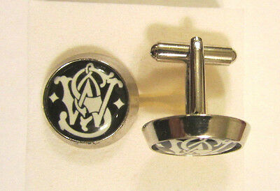 Smith & Wesson Cuff Links , Smith and Wesson logo cufflinks , S&W souvenir cuffs