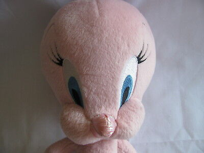 "10"" Pink Tweety Bird Plush Looney Tunes Warner Bros"