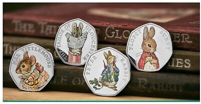 Beatrix Potter 2018 full set of 4 Silver 50p from Royal Mint