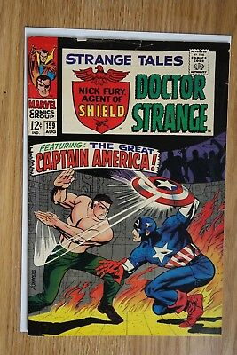 Marvel Strange Tales #159 (Aug, 1967) Origin of Nick Fury retold Silver Age
