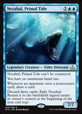1x NEZAHAL, PRIMAL TIDE - Rare - Rivals - MTG - NM - Magic the Gatherin