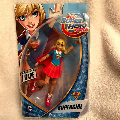 """DC Super Hero Girls SUPERGIRL with cape  6"""" Action Figure"""