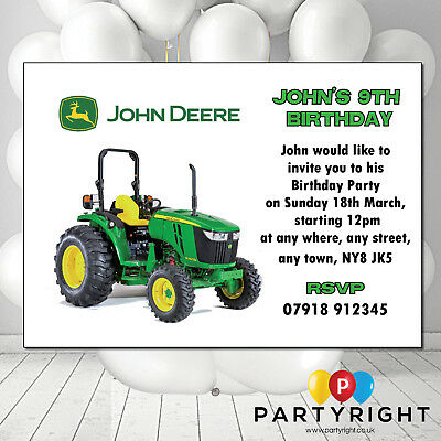 Personalised John Deere Tractor Birthday Card Father Day Your