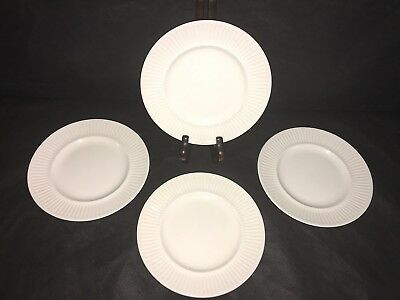 "Johnson Brothers Bros ATHENA WHITE RIBBED 6 3/8"" BREAD & BUTTER PLATES Set x 4"