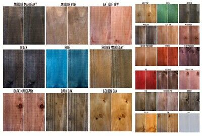 Morrells 6 x 50ml Water Based Wood Dye Colour-ODOUR FREE- Low VOC Wood Stain