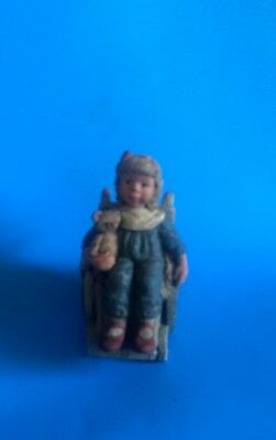 "Sarah's Attic ""special Girl""  Resin Figurine Of Girl In Wheel Chair--4"""