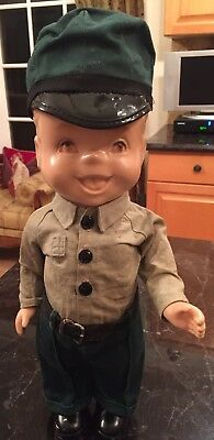 "Vintage 1950's Gas Station Buddy Lee Style 13"" Doll W/Hat & Uniform PRICE DROP"