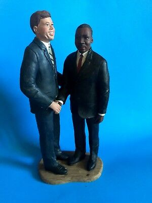 "Sarah's Attic ""john F Kennedy And Martin Luther King"" Resin Figurine Lim Edition"