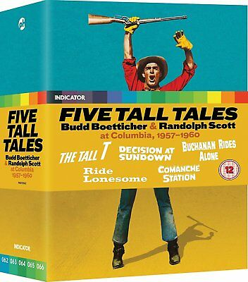 FIVE TALL TALES [Blu-ray] Limited Ed Collection Budd Boetticher & Randolph Scott