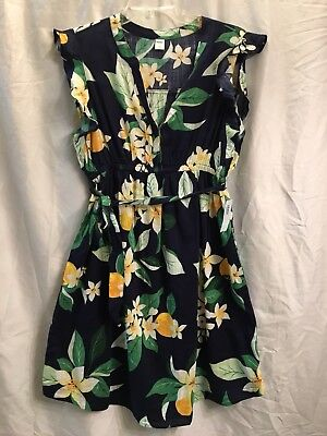 Old Navy Maternity Size Small Tie Belt Floral Shirt Dress NWT Sleeveless
