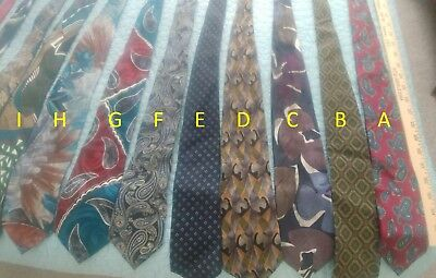 Lot of 27 Men's Tie Collection Neckties Smoke and Pet Free Home