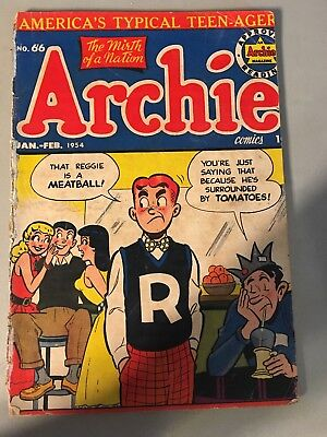 Archie #66 1954 Betty and Veronica Jug head  Vol. 1 #66 Comic look at pictures