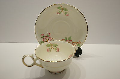 Antique Delphine J.H. Middleton Tea Cup and Saucer SET gold trim hand painted