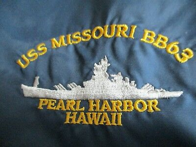 Vintage USS MISSOURI BB63 Aircraft Carrier PEARL HARBOR HAWAII (2XL) Hood Jacket
