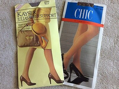 2 Pairs Support Pantyhose New In Packets
