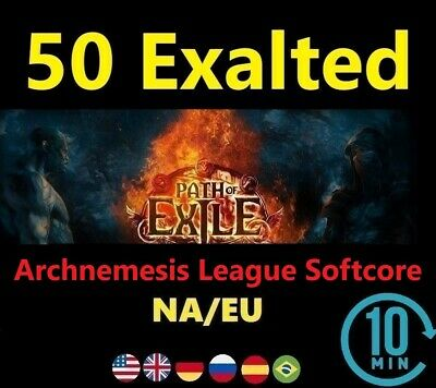 50 x Exalted Orb SYNTHESIS League Softcore (Path of Exile POE SC) 50 ex EU/NA/UK