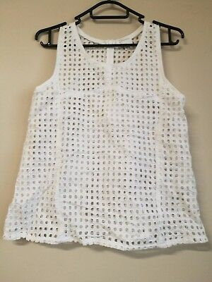 witchery tank top sz 4,5,6, 8,10,14 GIRLS white broidered lace cami tee t-shirt