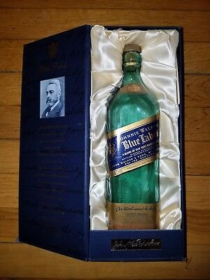 Empty Johnny Walker Blue Label Blended Scotch Whiskey Bottle 750ML
