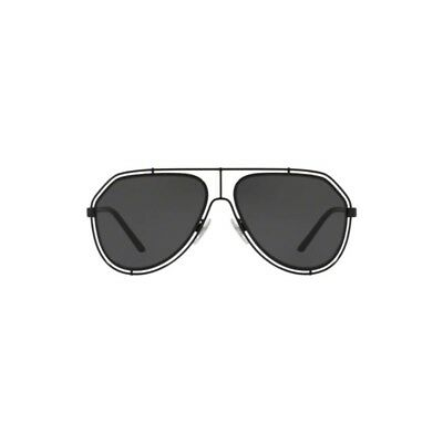 87eb71b45de New Dolce   Gabbana Aviator Sunglasses DG2167 01 81 Black Gold Polarized UV  Grey.