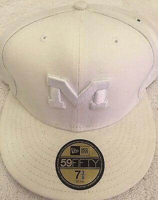 huge discount 017ee 09d82 Michigan Wolverines New Era White Cap Size 7 3 8 Brand New with Tags