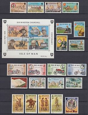 Isle of Man 1974-79 Stamps 2 pages Mint Never Hinged MNH