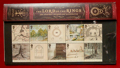 Lord Of The Rings - COMPLETE SET of 10 FIRST CLASS STAMPS - MINT - ROYAL MAIL