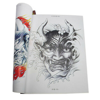 80 Seiten Tattoo Flash Book Body Art Design Malbuch Phoenix Dragon