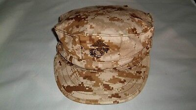 USMC Military Issue 8 Point Cover Garrison Marpat Desert Hat XL US Marine Corp