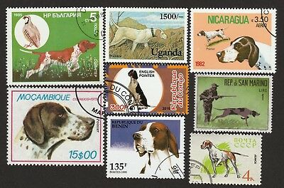 ON SALE!!  ENGLISH POINTER ** Int'l Dog Postage Stamp Collection **Unique Gift**
