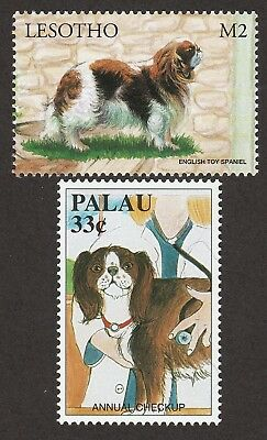 ENGLISH TOY SPANIEL ** Int'l Dog Postage Stamp Collection ** Great Gift Idea **