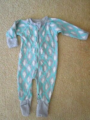 Baby boys Bonds zip wondersuit  one piece coverall with crackle print Size 00