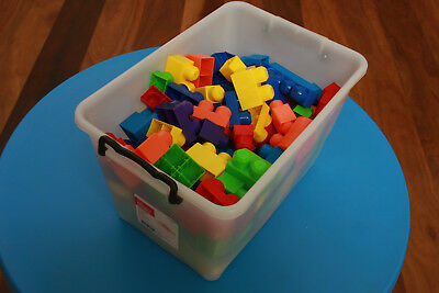 Bulk lot of mega bloks - various colours and shapes - 145 in number VGC