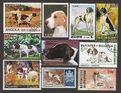ON SALE!!  ENGLISH POINTER ** Int'l Dog Postage Stamp Collection**Unique Gift**