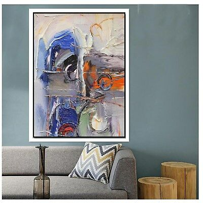 Hand Painted Abstract Canvas Oil Painting Wall Art Home Decor 845