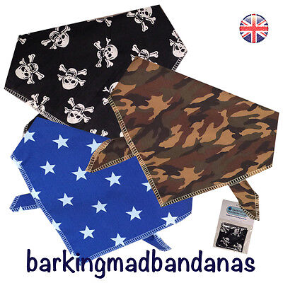 Dog Bandana Handmade Bandanas, Neck Scarf 100% Cotton, Dogs Birthday Sizes Boys