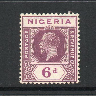 Nigeria - 1921-32, 6d Dull & Bright Purple (Die II) (sg25a) Mint