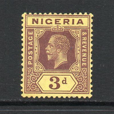 Nigeria - 1914-29, 3d Purple & Yellow (White Back) (sg5) Mint