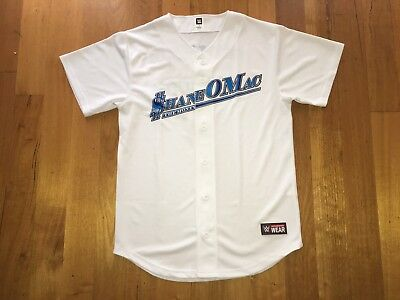 Official Wwe Shane O Mac Mcmahon The Money Survivor Series Baseball Jersey Sz S