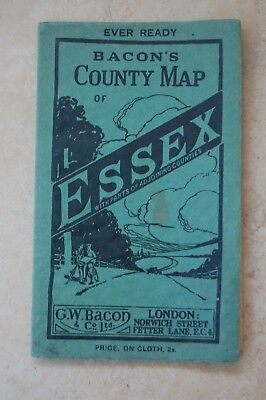 Old G.W. Bacon's County Map of Essex