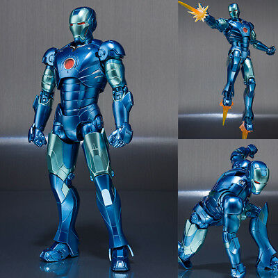 SH S.H Figuarts Iron Man Mark 3 Blue Stealth Color Figure Bandai Limited NEW