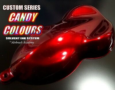 Custom-Series Deep Apple RED Candy Paint , Pre mixed, 1000ml - 1 litre - Helmet