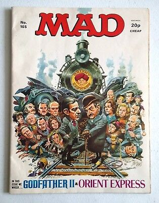 Mad no 165 ......we wreck Godfather II & Orient Express ..anarchic magazine 1976