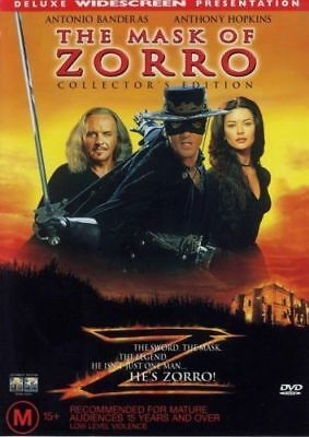 The Mask Of Zorro DVD New and Sealed Australia All Regions