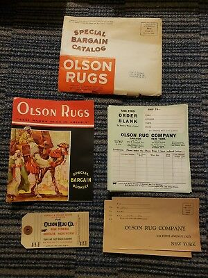 "Camels Advertising ""Olson Rugs"" Vintage Catalog - Oriental Art Deco Cover c 1932"